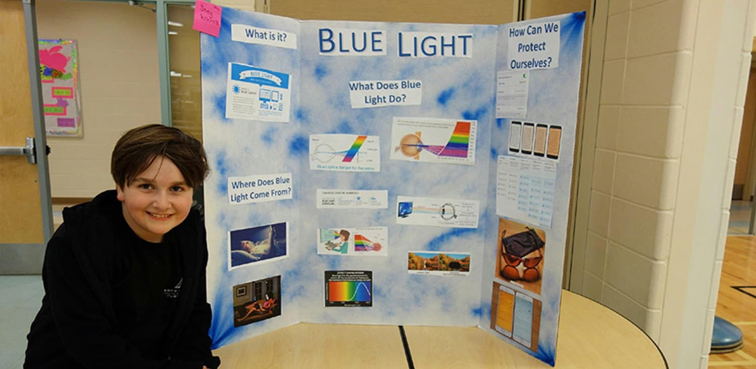 9-year-old sheds light on the dangers of blue light